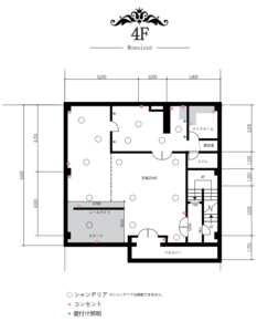 ギャラリーオー16スタジオ平面図